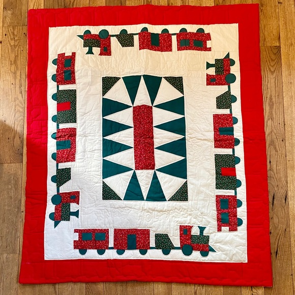{vintage} holiday quilt